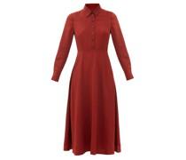 Veronica Point-collar Voile Midi Dress