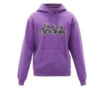 Graffiti-logo Cotton-jersey Hooded Sweatshirt