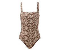 The Square Floral-print Swimsuit