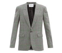 Harlow Prince-of-wales Check Wool Jacket
