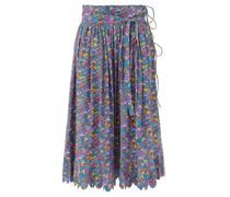 Lydia Mushroom-print Cotton Midi Skirt