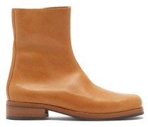 Camion Zipped Leather Boots
