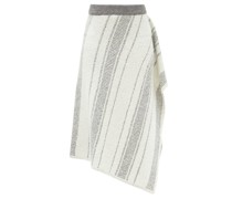 Asymmetric Hand-knitted Skirt