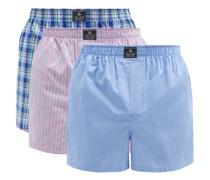 Pack Of Three Cotton-poplin Boxer Shorts