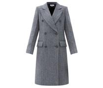 Double-breasted Wool-blend Wool Tweed Coat
