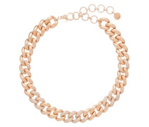 Diamond & 18kt Rose-gold Curb-chain Choker