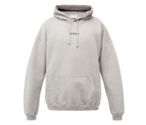 Logo-patch Cotton-blend Jersey Hooded Sweatshirt