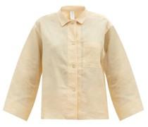 Long Sleeve Linen-poplin Pyjama Shirt