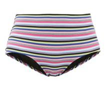 The Pomano High-rise Striped Bikini Briefs