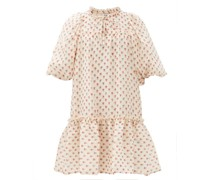 Alexis Floral-print Wool-blend Gauze Dress