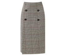 Prince-of-wales-checked Wool Skirt