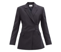 Double-breasted Belted Wool-blend Jacket