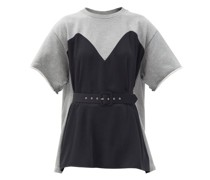 Dress-panel Cotton-jersey T-shirt