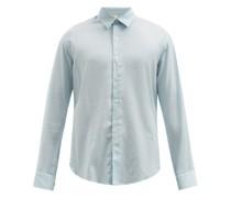 Dan Striped Crepe Shirt