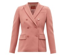 Indiana Double-breasted Cady Suit Jacket
