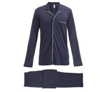 Night And Day Piped Cotton-jersey Pyjamas