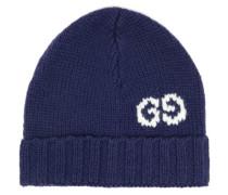 Gg Jacquard-logo Wool Beanie Hat