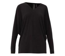 V-neck Dolman-sleeve Jersey Top