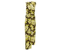 One-shoulder Floral-print Crepe Maxi Dress