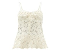 Sira Cotton-blend Macramé-lace Top