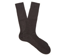 Danvers Ribbed-knit Cotton-blend Socks