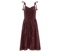 Thekla Scalloped Floral-print Cotton Midi Dress