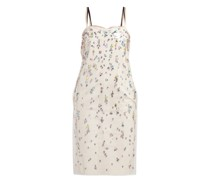 Pvc-layer Crystal-embellished Cotton Dress