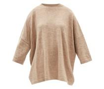 Oversized Alpaca And Linen-blend Knitted T-shirt