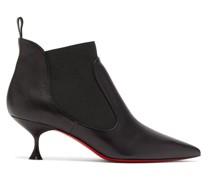 Carnavague 55 Kitten-heel Leather Ankle Boots