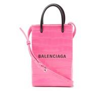 Shopping Mini Croc-effect Leather Cross-body Bag