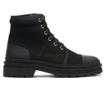 Faustine Lace-up Canvas Ankle Boots