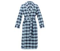 Kelburn Belted Check Cotton Robe