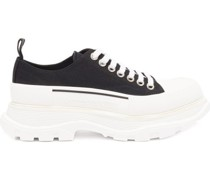 Tread Slick Chunky-sole Canvas Trainers