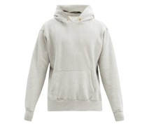 Brushed-back Cotton-jersey Hooded Sweatshirt