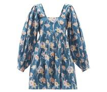Eaton Floral-print Cotton-poplin Mini Dress