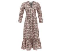 Leslie Floral-print Cotton-poplin Midi Dress