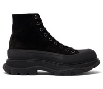 Tread Slick Exaggerated-sole Leather Boots