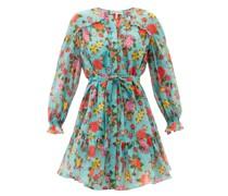 Pixie Dahlia-print Cotton-voile Mini Dress