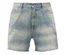 California Distressed Denim Shorts