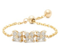 Brontë Diamond & Gold Chain Ring
