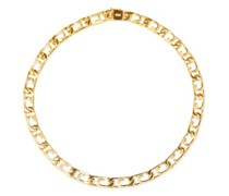 Curb Paperclip Gold-vermeil Necklace