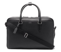 Ludlow Grained-leather Holdall