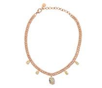 Yellow-diamond & 18kt Rose-gold Choker