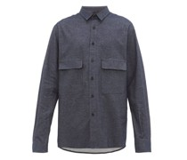 Chest-pocket Brushed Cotton-twill Shirt