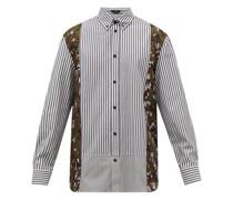 Acanthus-print Striped Cotton-oxford Shirt