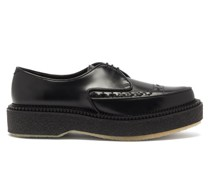 Crepe-sole Leather Creeper Derby Shoes