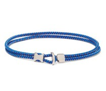 Orsan Rope-cord And Sterling-silver Bracelet