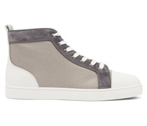 Louis Orlato Leather-trim Mesh High-top Trainers