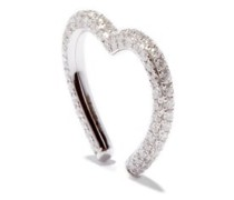 Heart Diamond & 9kt White-gold Ear Cuff