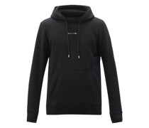 Visual Logo-print Cotton-blend Hooded Sweatshirt